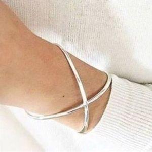Stella & Dot Jewelry - Stella & Dot Sculpted X Cuff - Silver